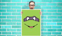 Teenage Mutant Ninja Turtles Donatello (Don or Donnie) - Wall Art Print Poster Pick A Size - Cartoon Art Geekery
